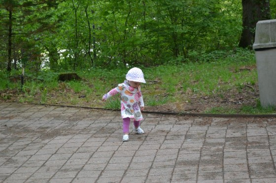 Juliette spent most of the day motoring around the zoo like a runaway train.