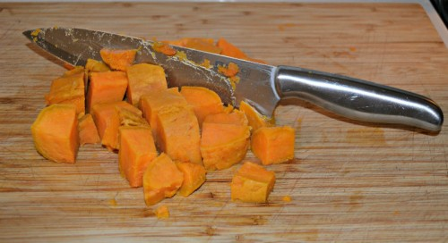 Chop Sweet Potato