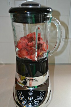 Blend Strawberries and Simple Syrup