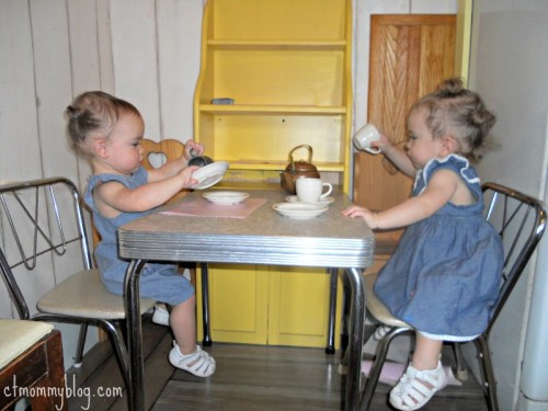 "We were the only people in the cabin room on the ""Members Only"" morning.  The girls loved having their first tea party."