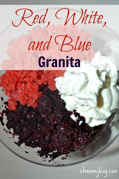 Strawberry Granita and Blueberry Granita