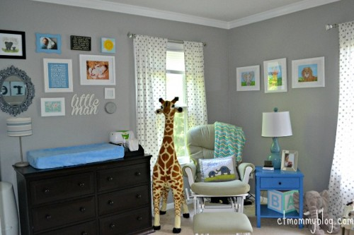 Modern Safari Baby Boy Nursery
