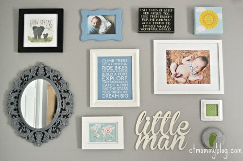 Baby Boy Nursery Gallery Wall