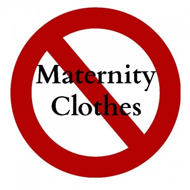 When to stop wearing maternity clothes