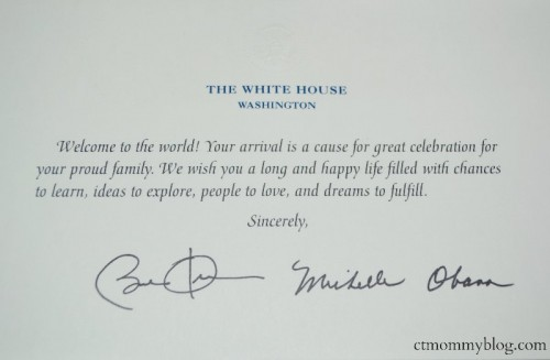 Birth Announcement to President