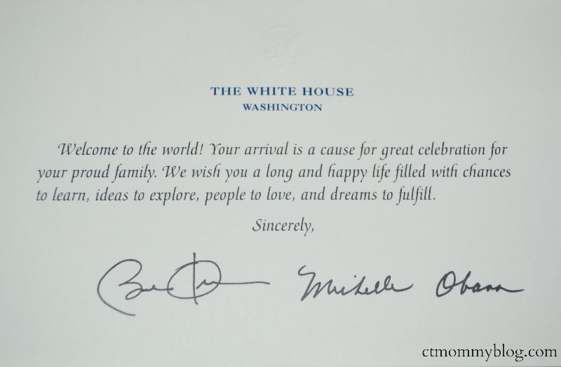 Send a Birth Announcement to the White House – Black and White Birth Announcements