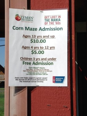 Price of Lyman Orchards Corn Maze