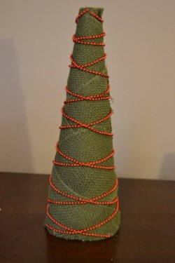 Burlap Tree Craft