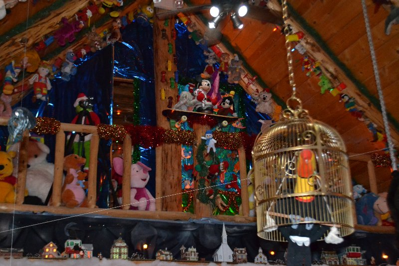 Santa Claus Christmas Village And The Christmas House In