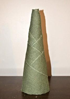 Burlap Christmas Tree Craft