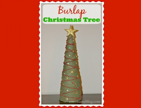 Christmas Craft: Make a Burlap Tree in 5 Easy Steps