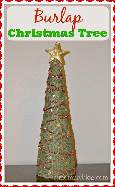 christmas craft diy burlap tree - Burlap Christmas Tree