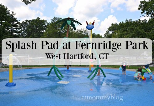 Splash Pad at Fernridge Park West Hartford CT